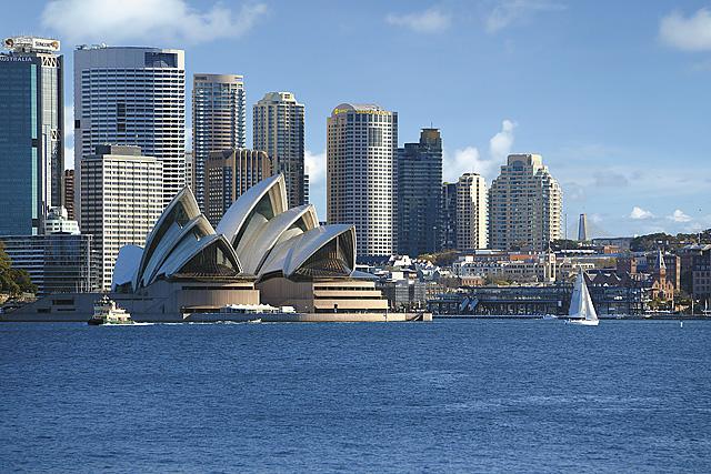 Hotel exterior, Shangri-La Hotel, Sydney